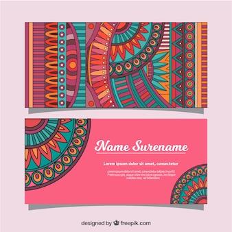 Etniczne ręcznie rysowane banerów