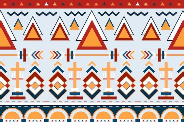 Etniczne tło geometryczne, wektor wzór, bezszwowe kolorowe wzornictwo