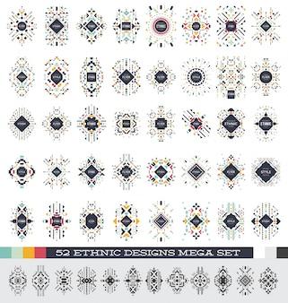 Etniczne wzory mega zestaw