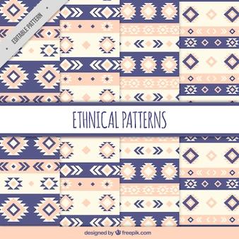 Etniczne wzory z plemiennych kształtach