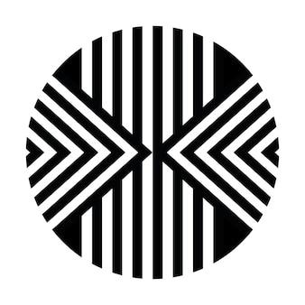 Etniczny afrykański plemienny okrągły styl liniowy sztuka tło wektor lub okrąg w paski tekstury