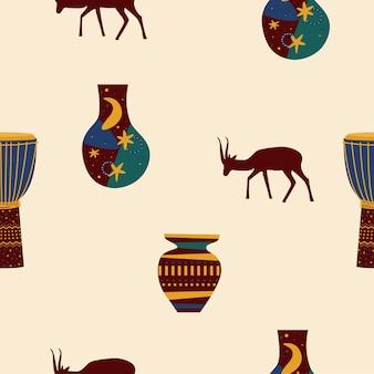 Etniczny afrykański wzór.