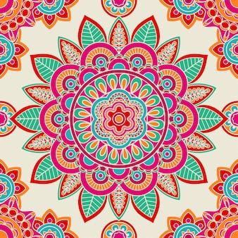 Etniczny boho hipisa bezszwowy wzór