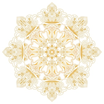 Etniczny element dekoracyjny. symbol mandali. round abstrakcjonistyczny kwiecisty ornament.