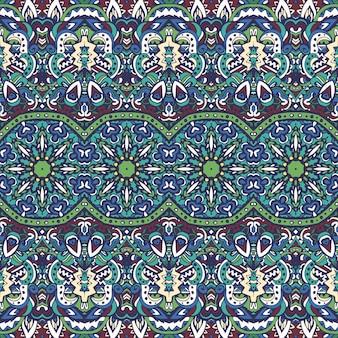 Etniczny nadruk geometryczny. kolorowy styl aztec powtarzając teksturę tła. projektowanie mody