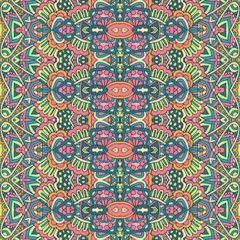 Etniczny plemienny świąteczny wzór na tkaninę abstrakcyjny geometryczny kolorowy wzór bez szwu