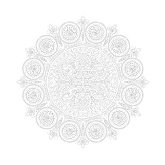 Etniczny wzór mandali w stylu boho na białym