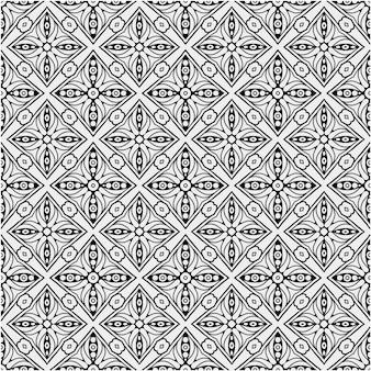 Etniczny wzór w czarno-białym kolorze