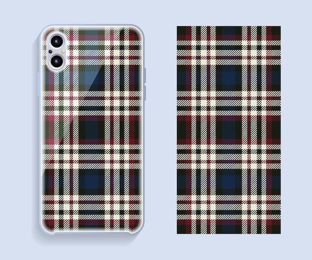 Etui na smartfona z geometrycznym wzorem