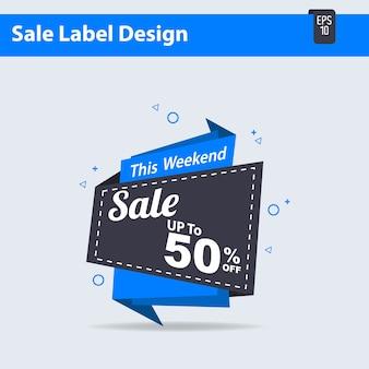 Etykieta big sale 50% zniżki oferty, big tag sprzedaży