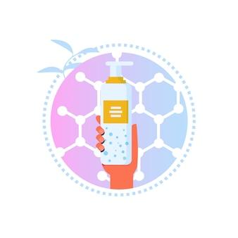 Etykieta cartoon do usuwania balsamu lub makijażu
