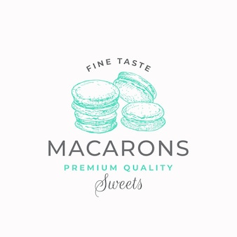 Etykieta fine taste macarons