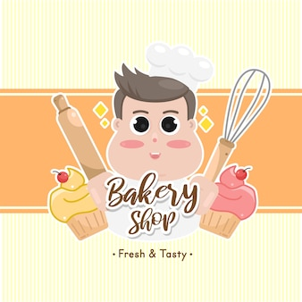 Etykieta i logo słodkiej piekarni