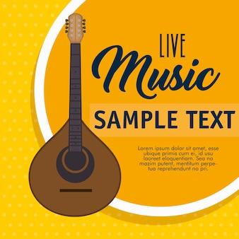 Etykieta instrumentu muzycznego ukulele