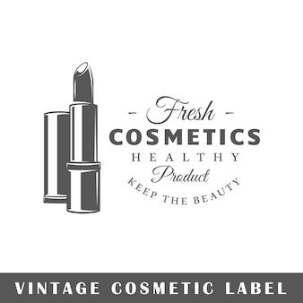 Etykieta kosmetyczna na białym tle. element. szablon logo, oznakowania, marki.
