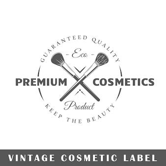 Etykieta kosmetyczna na białym tle. szablon logo