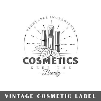Etykieta kosmetyczna na białym tle