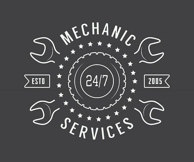 Etykieta mechanika, godło