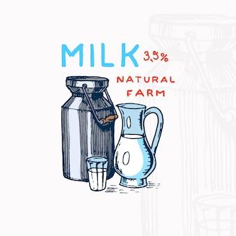 Etykieta na mleko może.