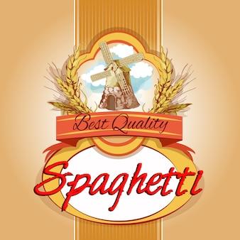 Etykieta na opakowanie spaghetti