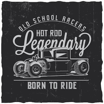 Etykieta old school racers