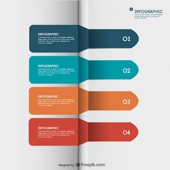 Etykieta papier infografika strzałki