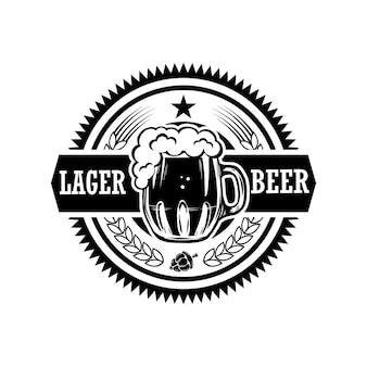 Etykieta piwa w stylu vintage.