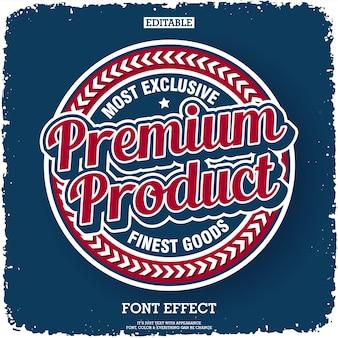 Etykieta premium produktu w stylu retro