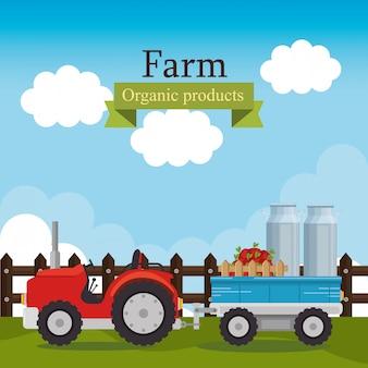 Etykieta produktów ekologicznych gospodarstwa rolnego