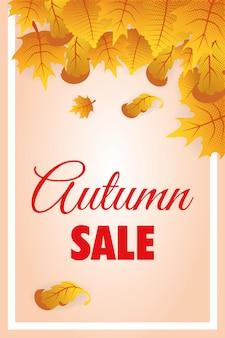 Etykieta sezonowa sprzedaż jesień