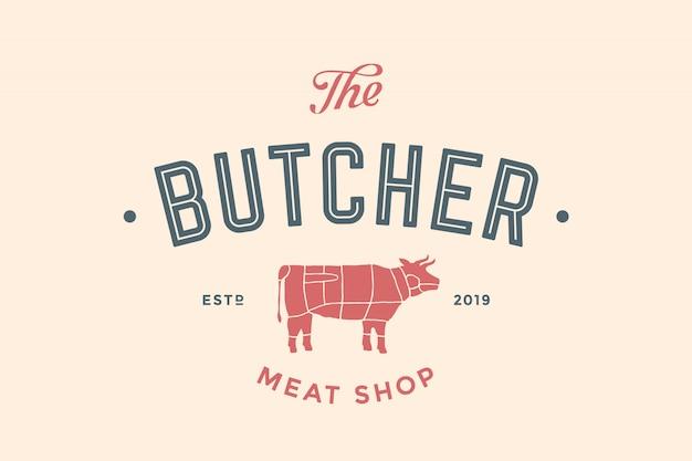 Etykieta sklepu mięsnego butchery