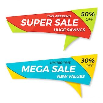 Etykieta sprzedaży cena tag banner znaczek szablon naklejki