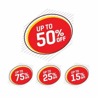 Etykieta sprzedaży i oferty specjalnej, metki cenowe, etykieta sprzedaży.
