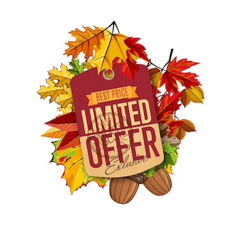 Etykieta sprzedaży jesienią