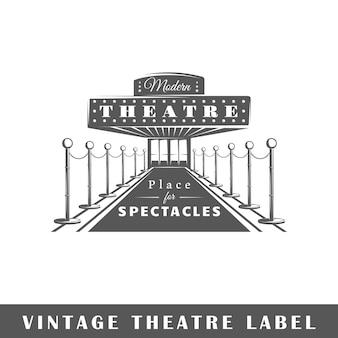 Etykieta teatr na białym tle