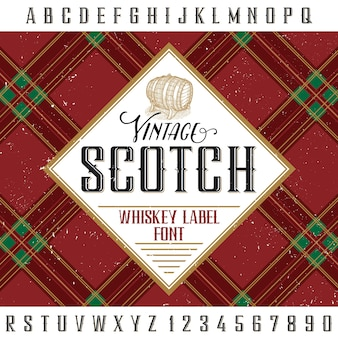 Etykieta vintage scotch