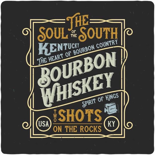 Etykieta vintage whisky