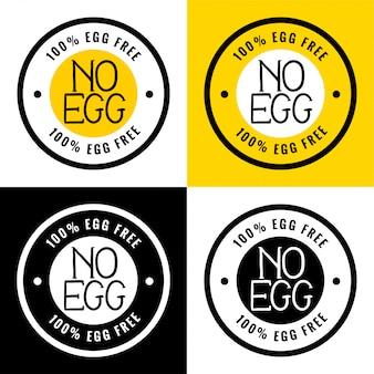 Etykieta w 100% bez jajek lub bez jajek