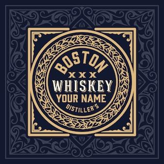 Etykieta whisky vintage retro