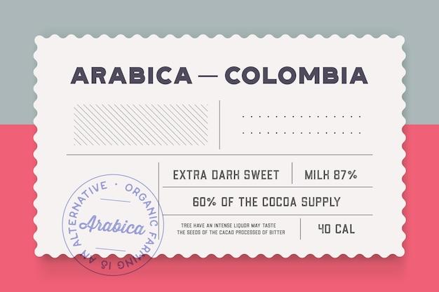 Etykieta wysyłkowa vintage. minimalny szablon etykiety w stylu retro