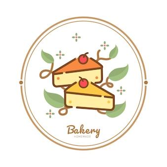 Etykieta żywności piekarnia słodka piekarnia deser słodycze sklep szablon projektu