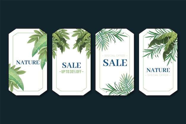 Etykietka na prezent z egzotycznymi roślinami duotone