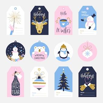 Etykietki na prezenty świąteczne
