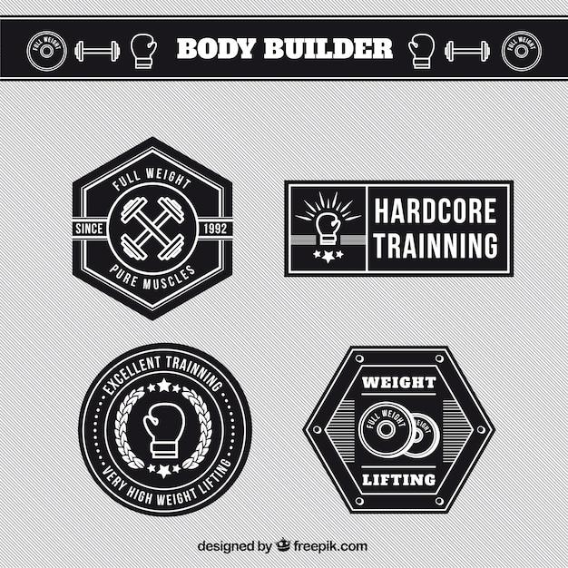 Etykiety budowniczy ciała
