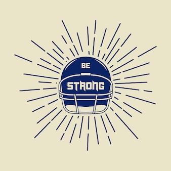 Etykiety futbolu amerykańskiego, emblematy