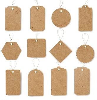 Etykiety kartonowe ustawić białe tło
