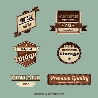 Etykiety kolekcji w stylu vintage