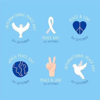 Etykiety międzynarodowego dnia pokoju