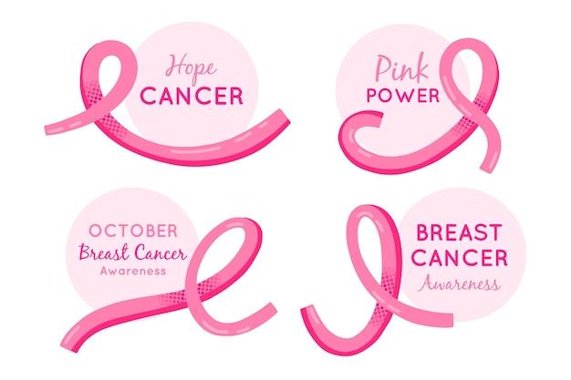 Etykiety miesiąca świadomości raka piersi