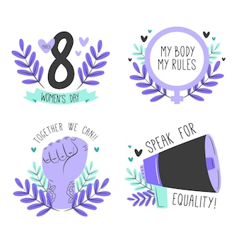 Etykiety na międzynarodowy dzień kobiet